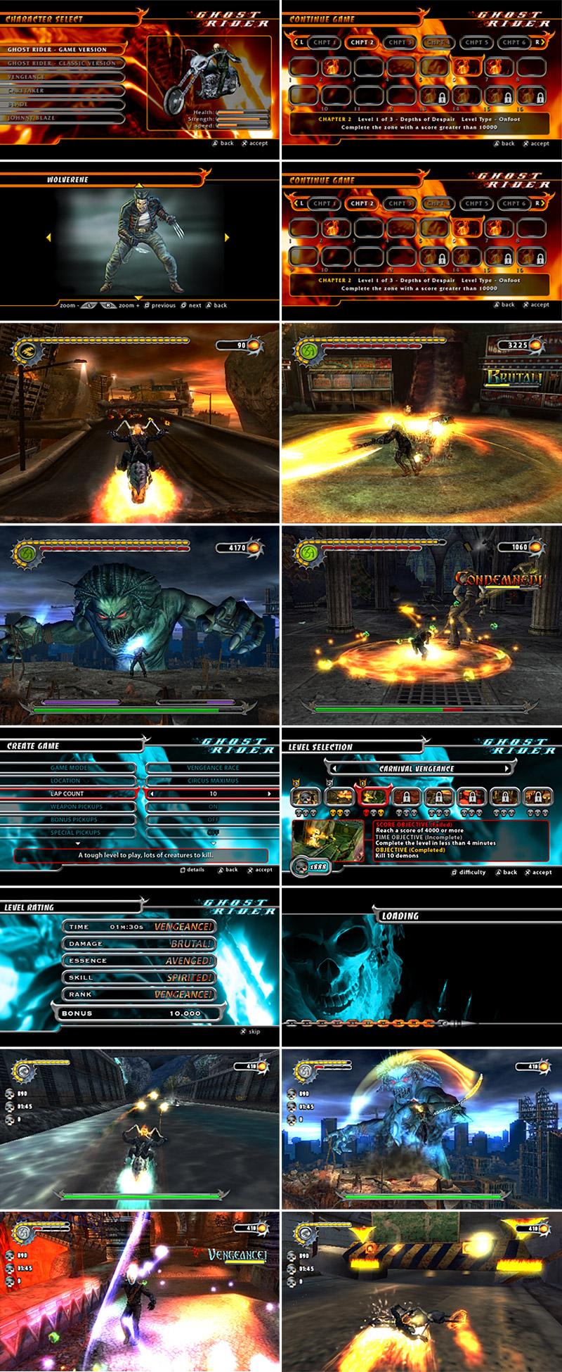 Ghost Rider UI Screens