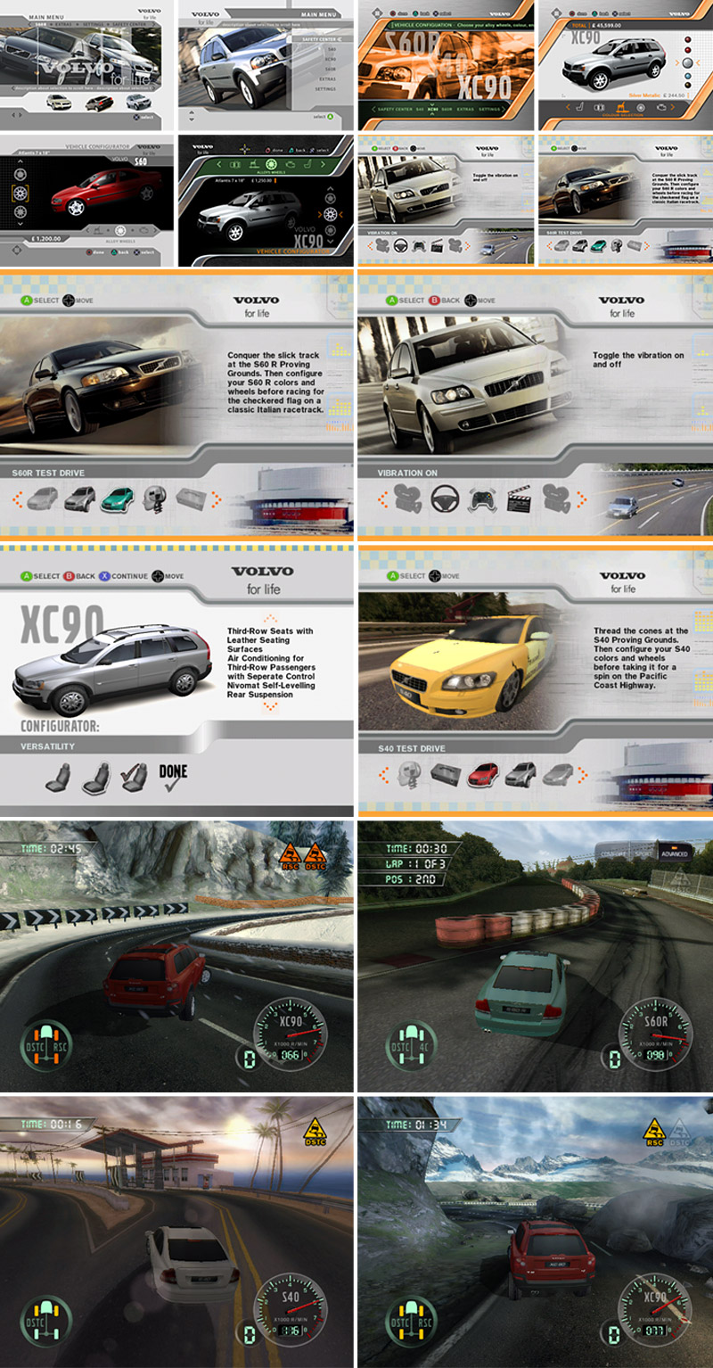 Volvo UI Screens